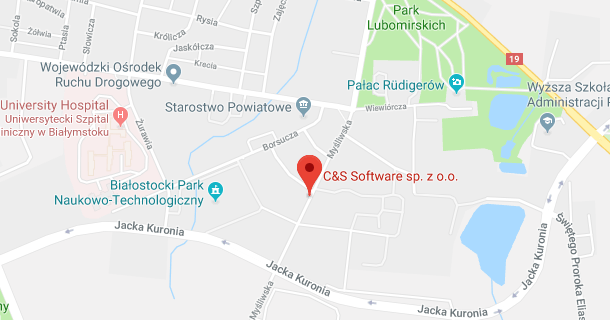 C&S Software on a map
